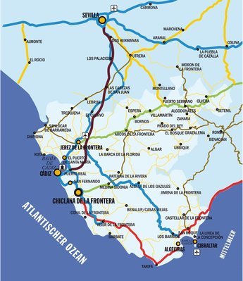 Karte der Provinz
