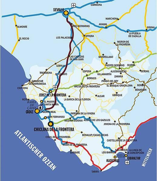 Jerez De La Frontera Karte.Página Oficial Delegación De Turismo Ayuntamiento Chiclana De La